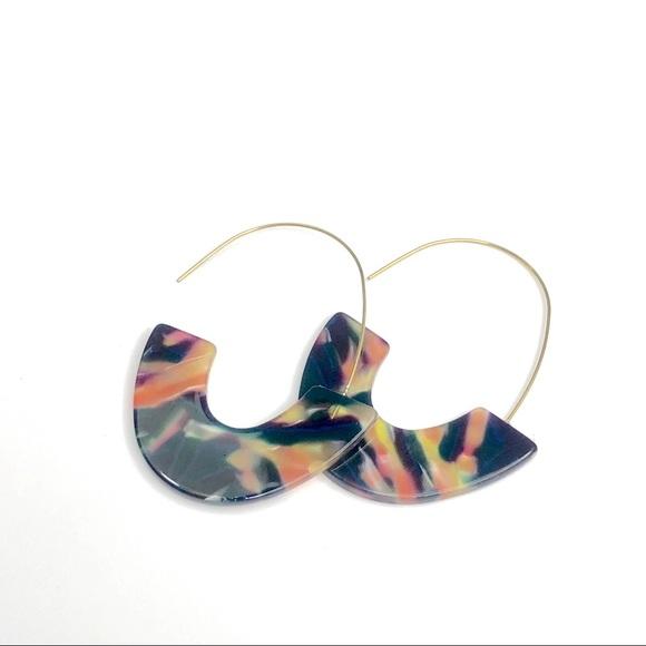 Jewelry - Fashion Earrings Semicircle Hook Colorful
